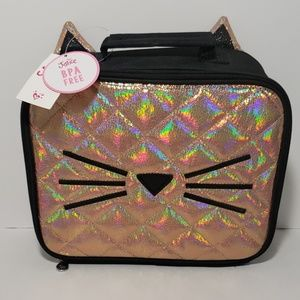 Justice Girls Lunchbox Quilted Cat Lunch Tote